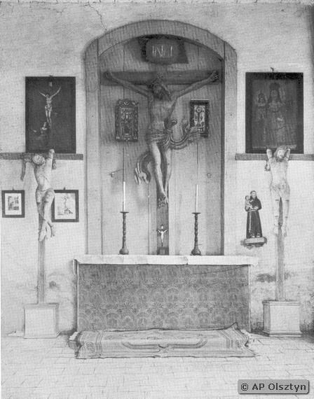 Wnętrze kaplicy udokumentowane w latach 30. ubiegłego wieku